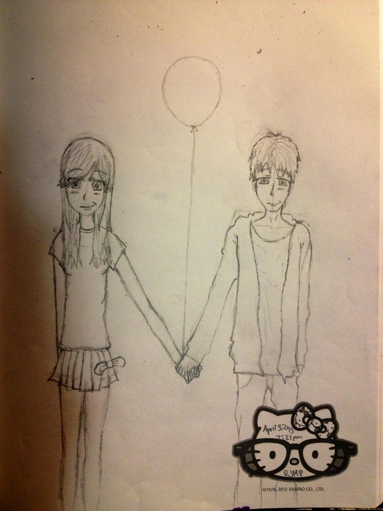Guy and girl holding hands by soaringthroughart on DeviantArt