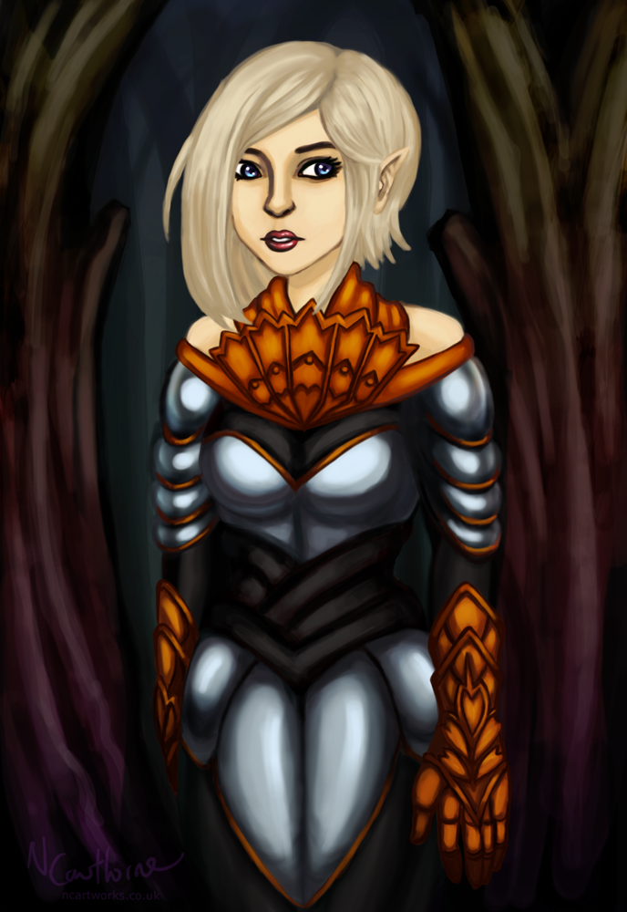 Elf knight by Nuran-Cawthorne