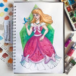 Cinderella in the pink dress