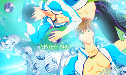 MakoHaru Blue and Green by strawberry4750