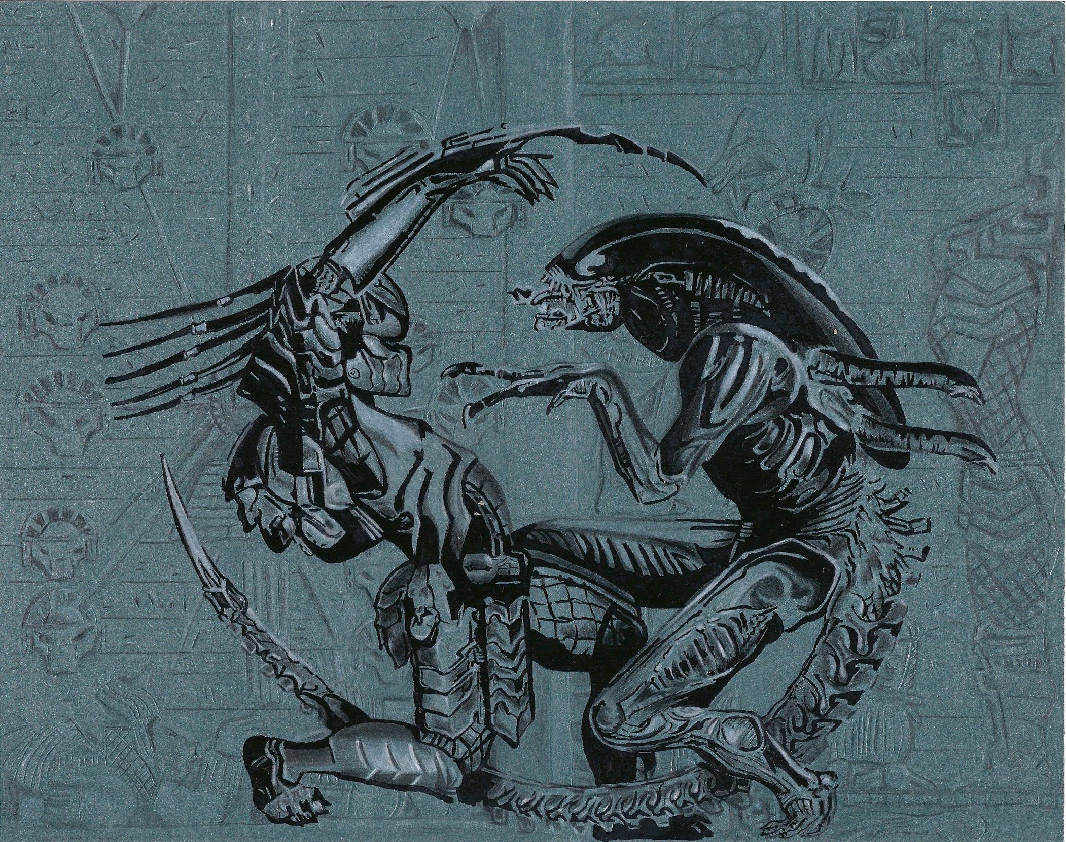 aliens vs predator drawings - photo #8