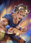 Goku Super Sayan fro the first time