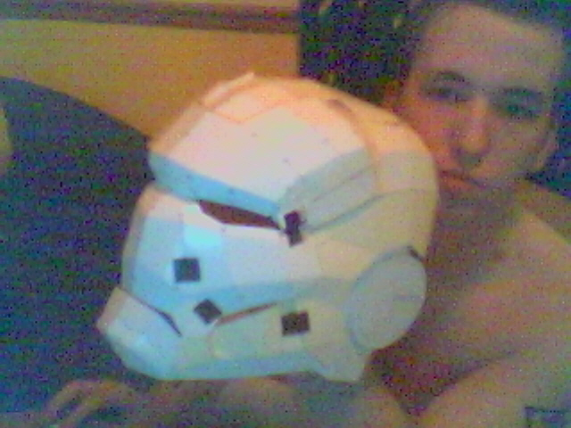 Iron Man Helmet Pepakura by Baldie-Chan