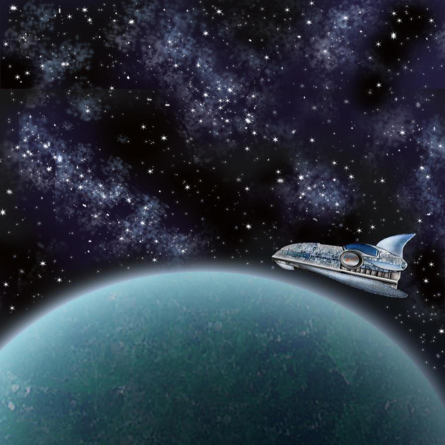 Spaceship by marinaawin