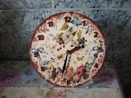 Butterflies Clock by marinaawin