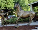 Bronze Horse  Life Size  8' x