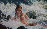 Oil_Canvas 60' w x 38' h by FireBoar