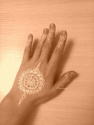 White Mandala Mehendi
