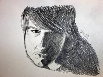 Dramatic Self-Portrait by PhyroPhantom