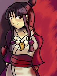 3DS Drawing - Maya Fey by PhyroPhantom