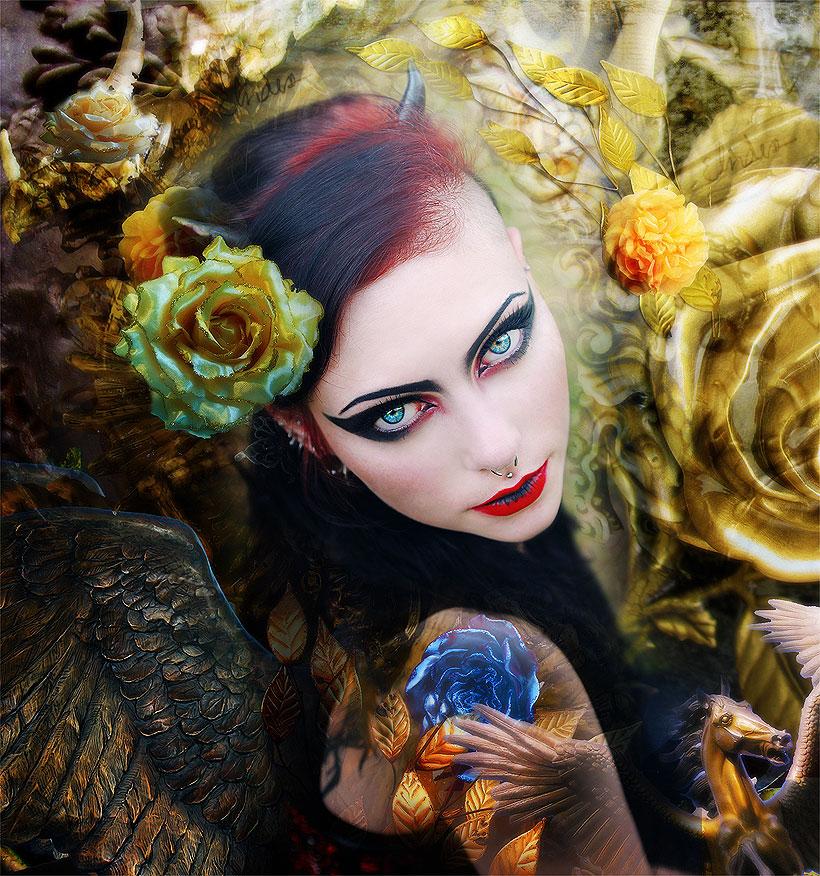 blue-eyed angel by Andaelentari