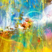 rainbow drip by Andaelentari