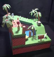 Papercraft Green Hill Zone by Xanokah