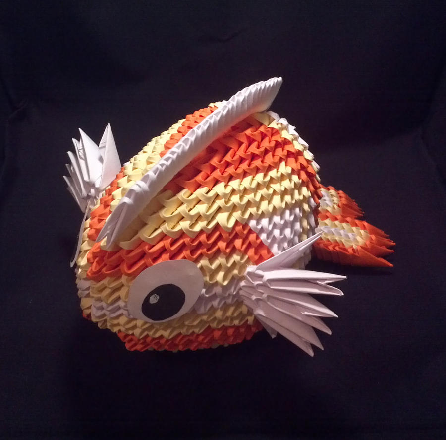 3d origami fish by xanokah on deviantart for Create a fish
