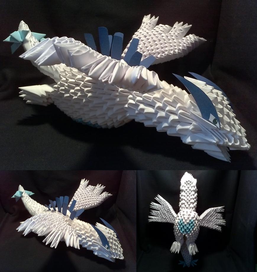 3d origami lugia by xanokah on deviantart