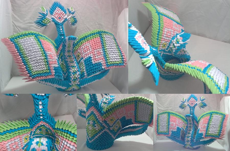 3D Origami Fantasy by Xanokah
