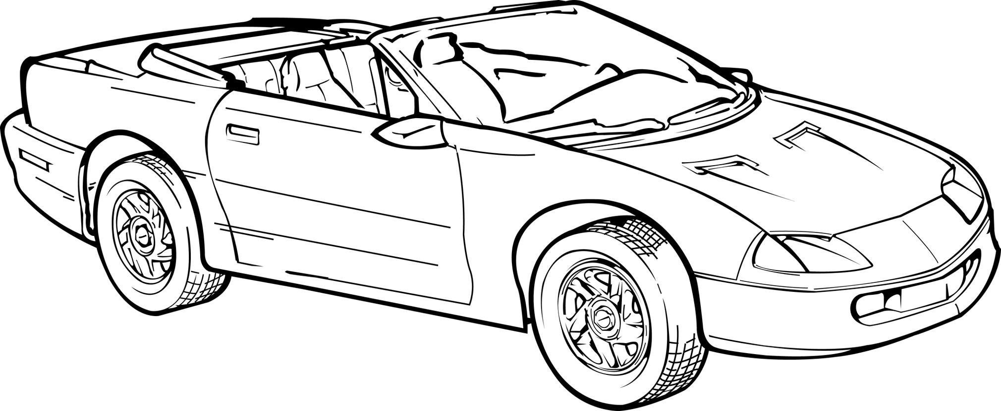 Basic camaro illustration by steve126a on deviantart for Camaro coloring page