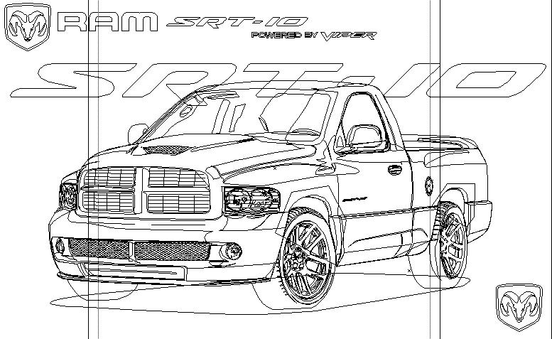 dodge ram truck coloring pages - dodge ram free coloring pages