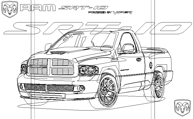 Dodge Ram SRT-10 Wireframe by Steve126a on DeviantArt