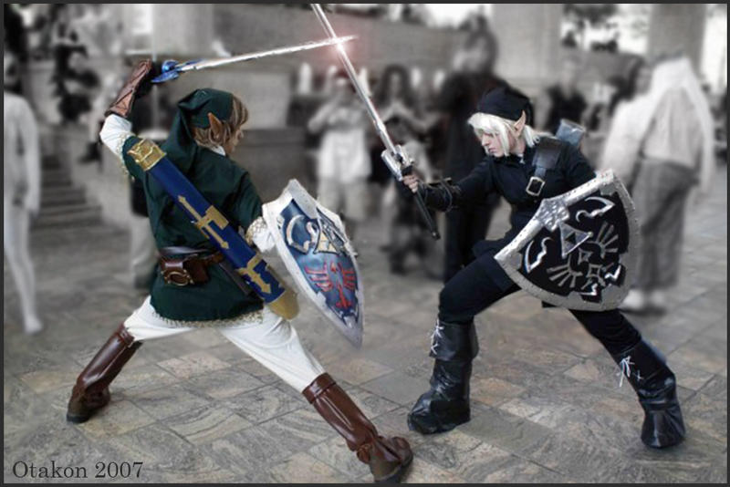 Link VS Dark Link by GingerAnneLondon