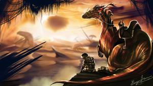 Dinosaur Rider by GingerAnneLondon