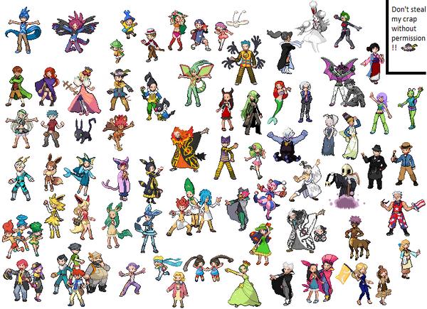 99 Goodbye Pokemon Trainer Sprites Neogaf Custom Pokemon Trainer