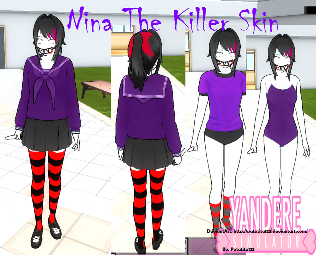 Yandere Simulator Skin Nina The Killer Skin By Patatita On - Skins para minecraft de yandere