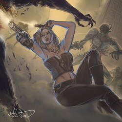 Trish (Devil May Cry) by amarcus88LG