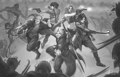 Devil May Cry 5 Team Up by amarcus88LG