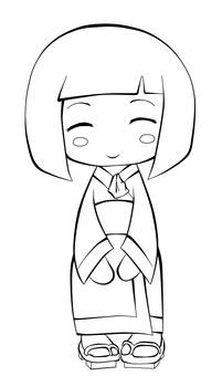 Kokeshi Doll Design Lines