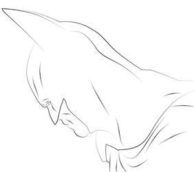 Bat again lineart