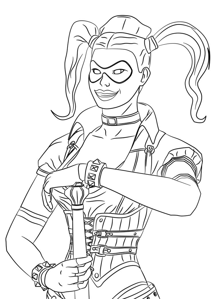 Harley quinn printable coloring pages fun coloring pages - Harley Quinn Coloring Pages For Kids Viewing Gallery