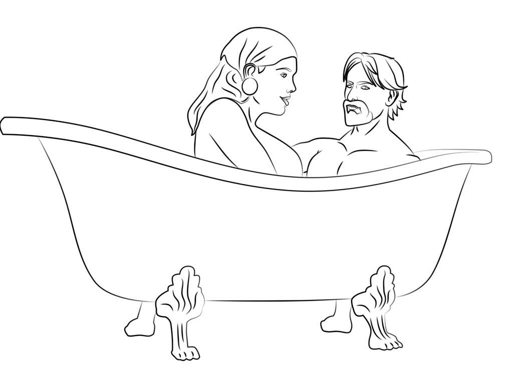 l bath time coloring pages - photo #48