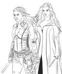 Cara and Kahlan by Vierna-Drottingu