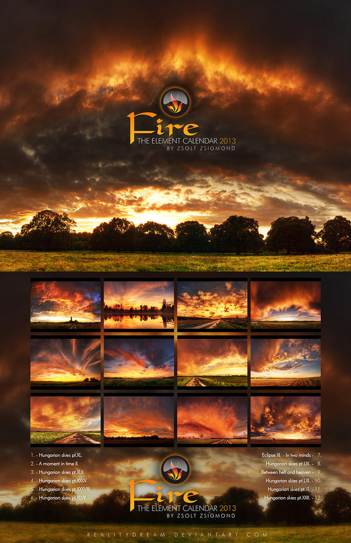 The elements calendar - Fire by realityDream