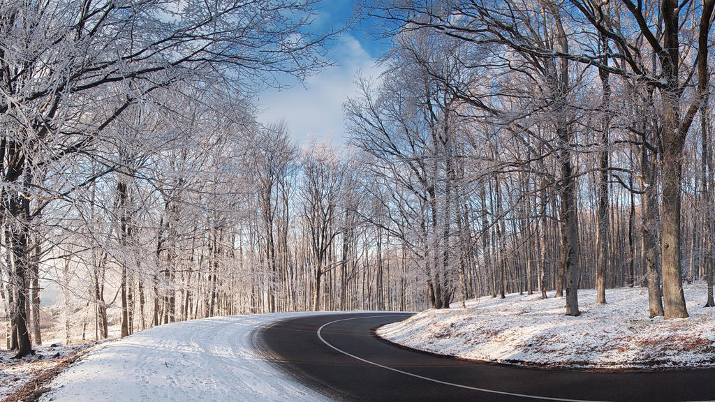 Winter road WP by realityDream