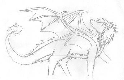 dragon-ish concept 1 WIP by SirenaRose034