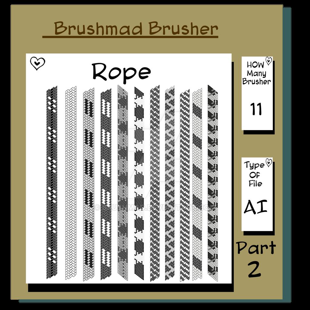 Illustrator Shoe Lace Rope brushers part 2 by brushmad on