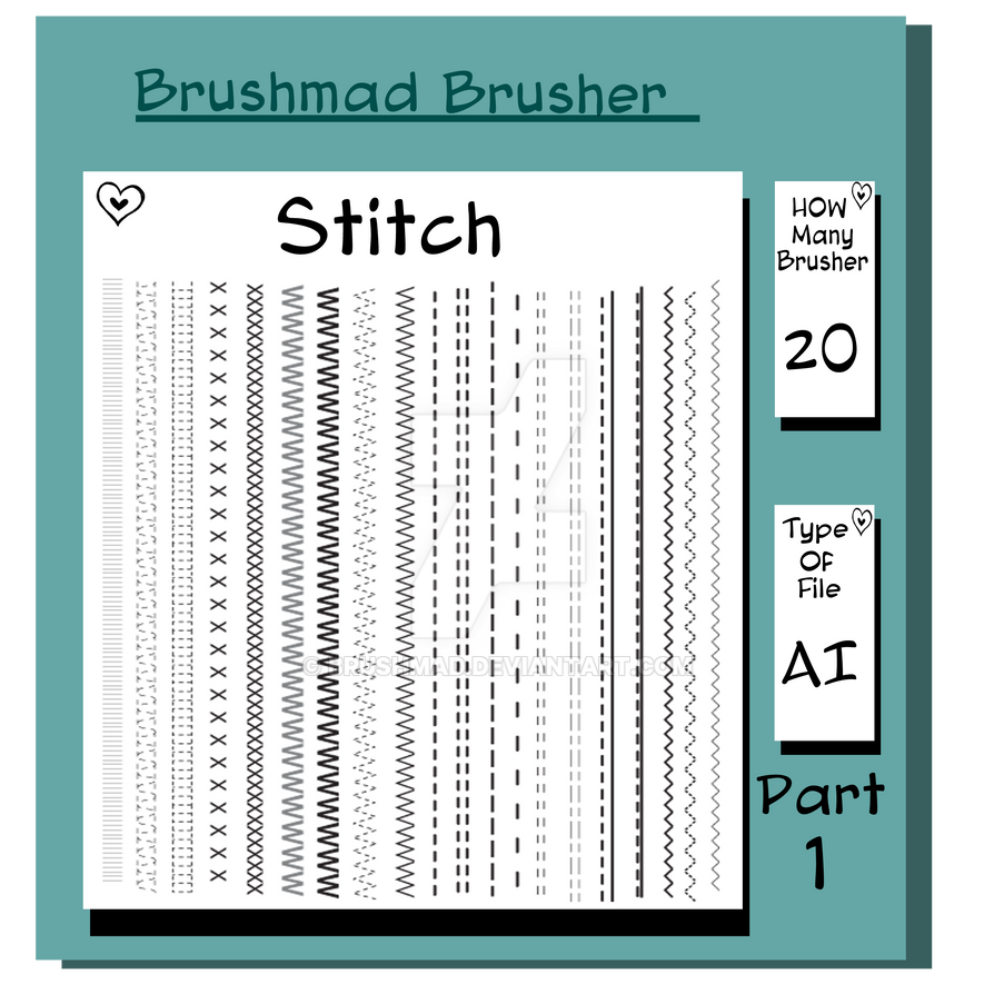 Illustrator stitch brush Part 1 by brushmad