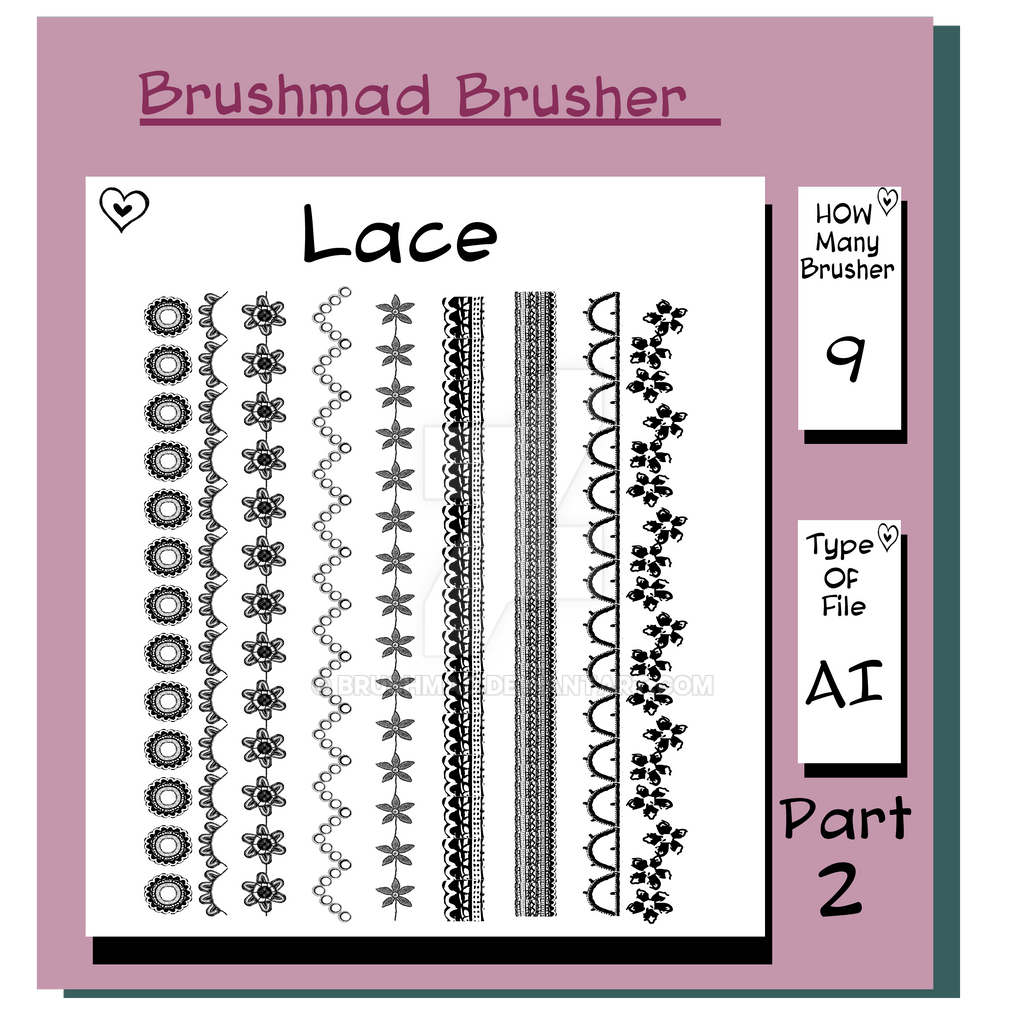 Illustrator Lace brush Part 2 by brushmad