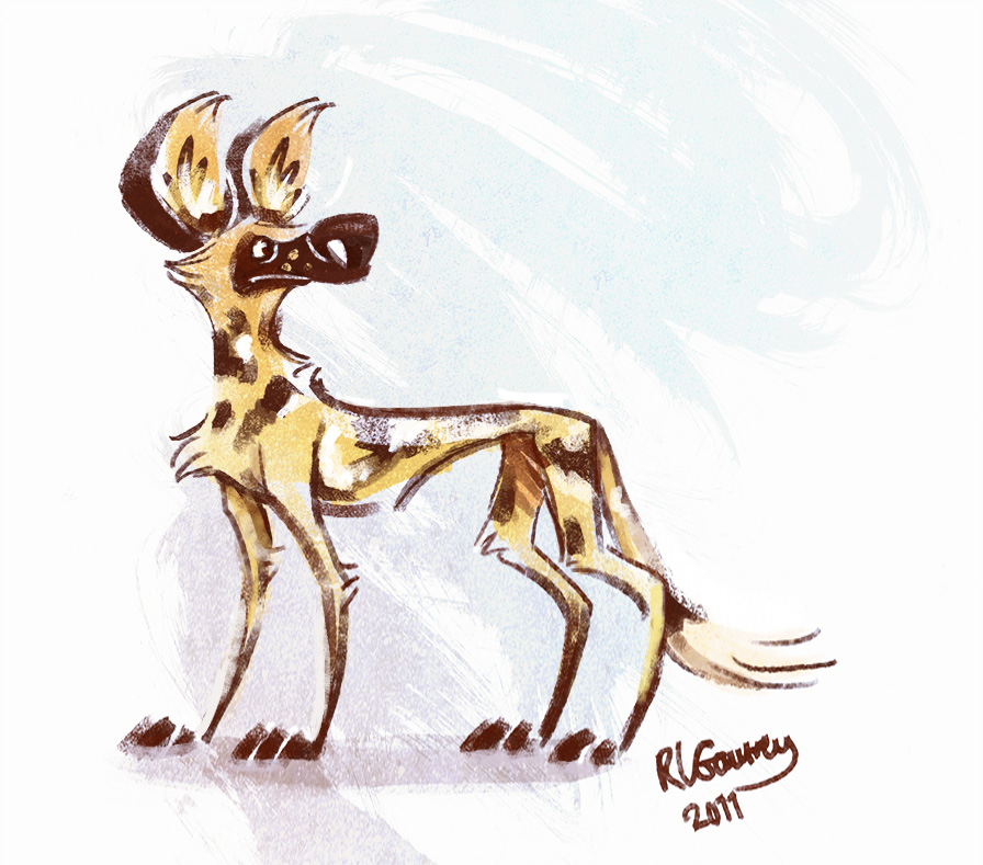 African wild dog by gautree on deviantart for African wild dog coloring pages
