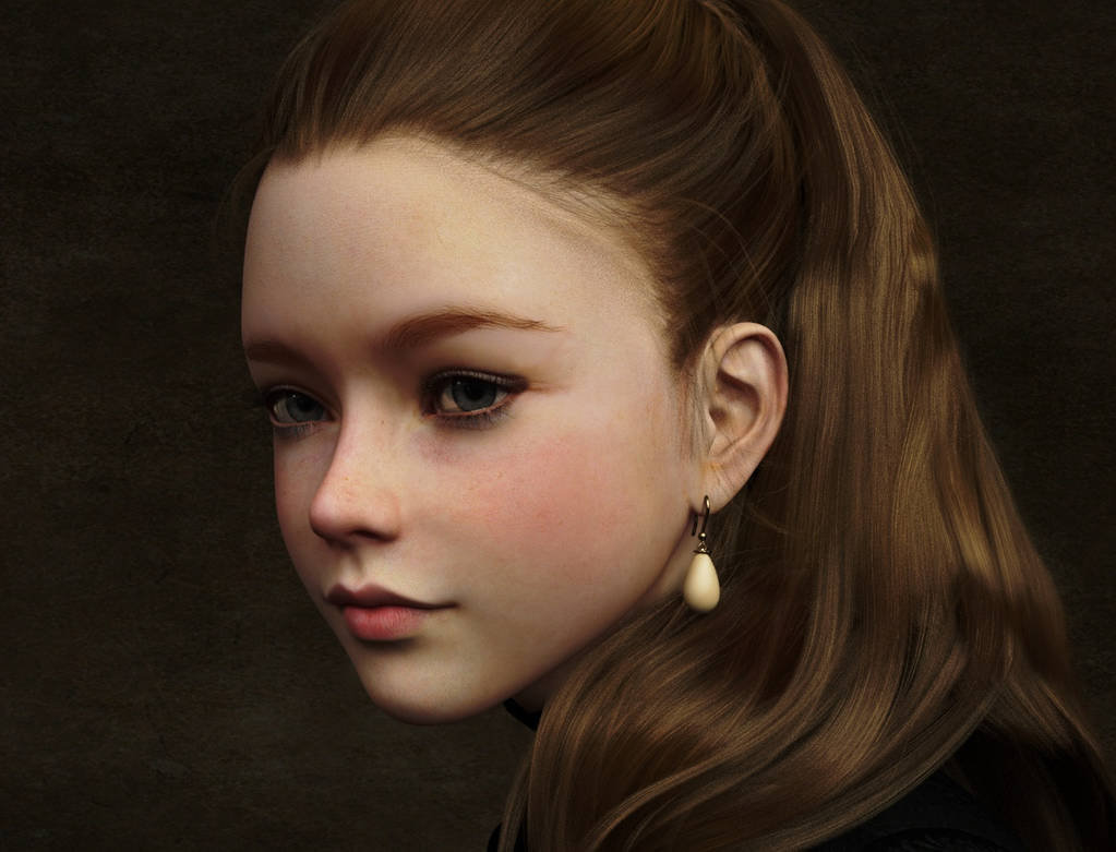 CG Girl with a Pearl Earring 002
