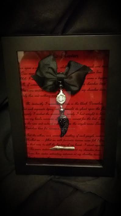 For Sarah, Memento Mori, Edgar Allan Poe-Shadowbox