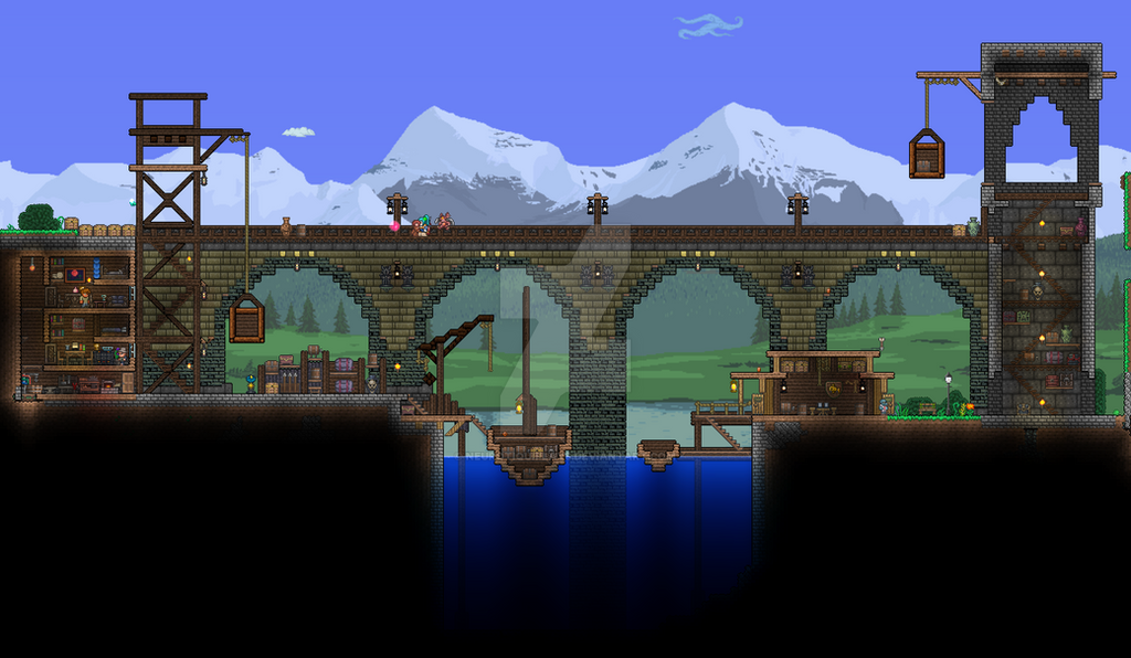 how to move water in terraria