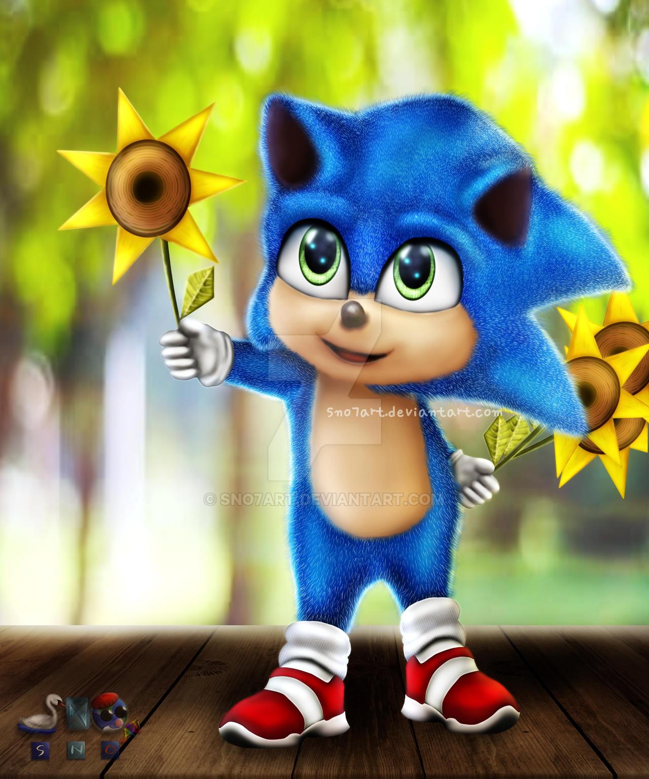 Baby Sonic 2020 By Sno7art On Deviantart