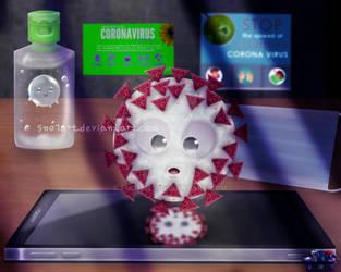 Corona virus by SNO7ART