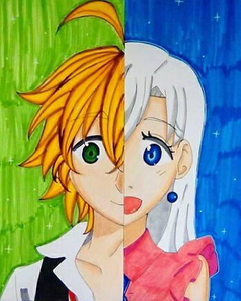 Meliodas and Elizabeth (Nanatsu no Taizai) by ...