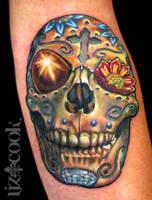 Sugar Skull by LizCookTattoo
