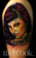 Creepy Bettie Page by LizCookTattoo