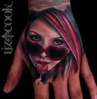 Hand Tattoo by LizCookTattoo